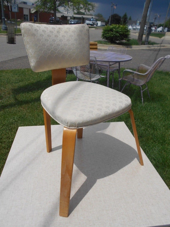 Vintage thonet bent plywood chair mid century modern plycraft eames