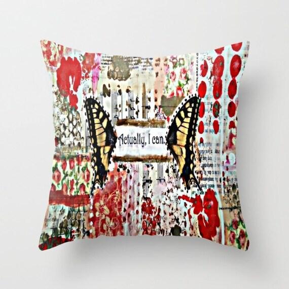 Throw pillow. Indoor or outdoor. Handmade original: Wild Child