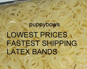 Puppy Bows ~ Latex Dog Grooming Bands 5000 PACK ~elastic dog bows bow TOPKNOT band ~USA seller