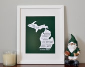 Michigan State University - MSU Fight Song - Typography Poster - Poster Print - Wall Art Decor - Collegiate Licensed Product