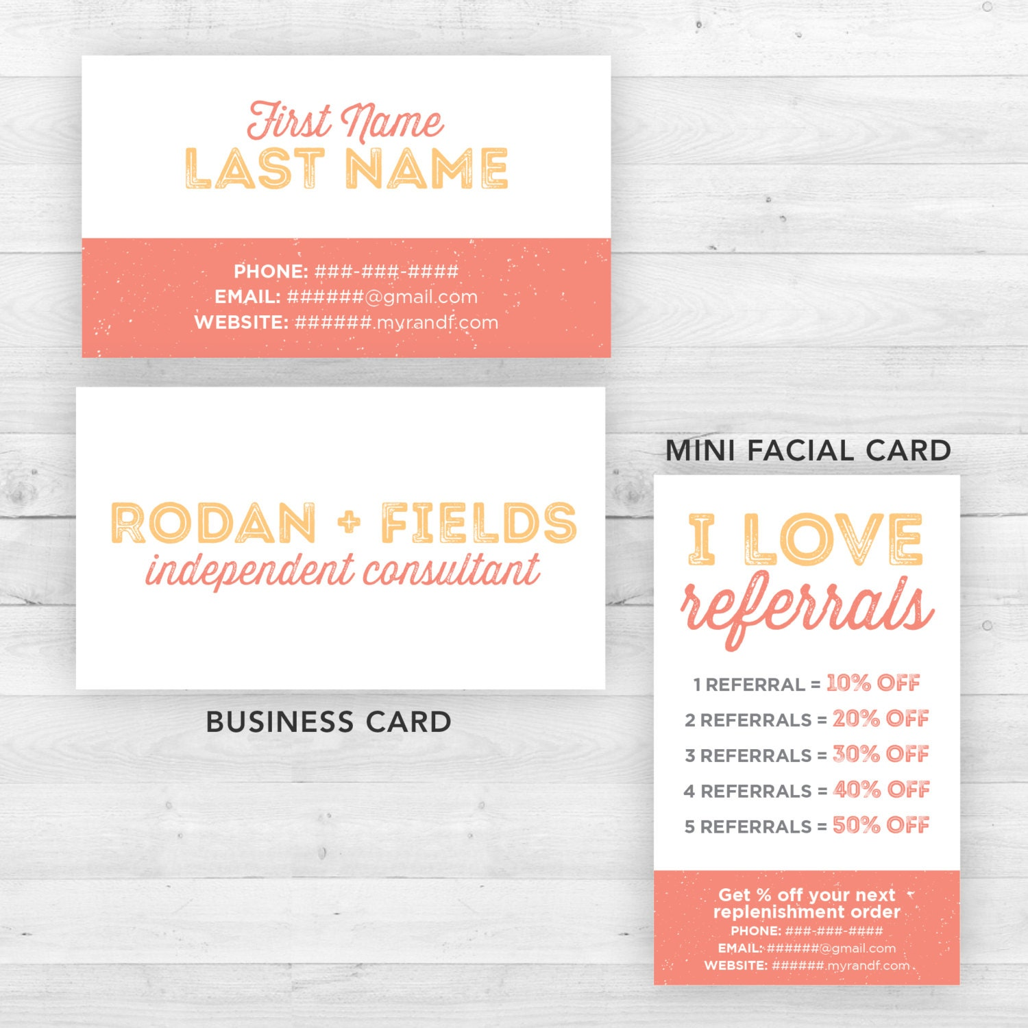 inspirational gallery of rodan and fields business cards