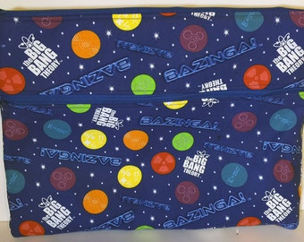 """The Big Bang Theory Laptop Macbook Pro or Air Case Sleeve with Zipper 13"""" 15"""" Licensed Fabric Bazinga Sheldon Cooper TV Show Geek"""