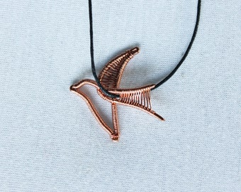 Swallow flying necklace, flying swallow pendant, swallow jewelry