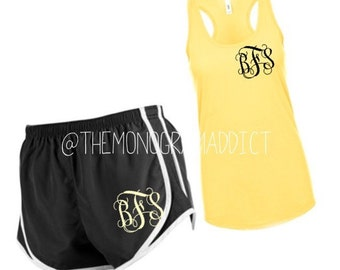 Monogram Outfit -- Includes Tank & Shorts