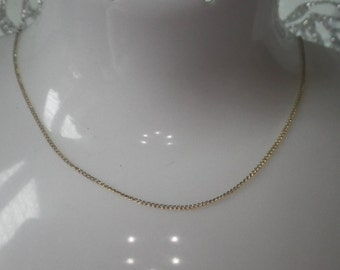 Pretty 14ct Yellow Gold Curb Link Necklace Chain