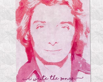 Barry Manilow Song Lyric Card