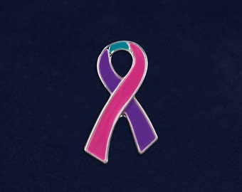 Thyroid Cancer Awareness Pin in a Bag (1 Pin - Retail) (RE-P-25-35)