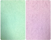 Floral Pattern Embossed Pastel Colored Stretch Scuba Polyester Spandex Fabric- 56 to 58 Inches Wide - By the Yard or Bulk