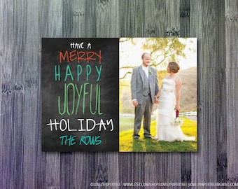 Merry, Happy, Joyful Holiday Photo Card (HC13)