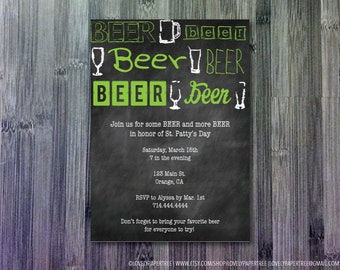 Green Beer St. Patty's Day Invitation   HP_STP2