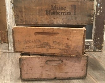 Maine Blueberry crate