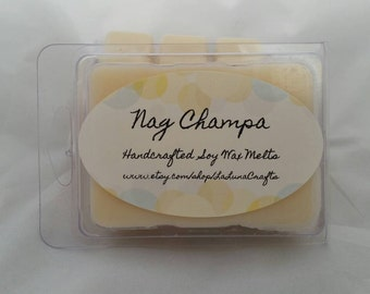 Nag Champa Soy Wax Melts -  Nag Champa Scented- Earthy Wax Melts - Wax Tarts - Highly Scented Wax Melts