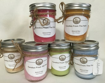 Handmade Scented Soy Wax Candles.