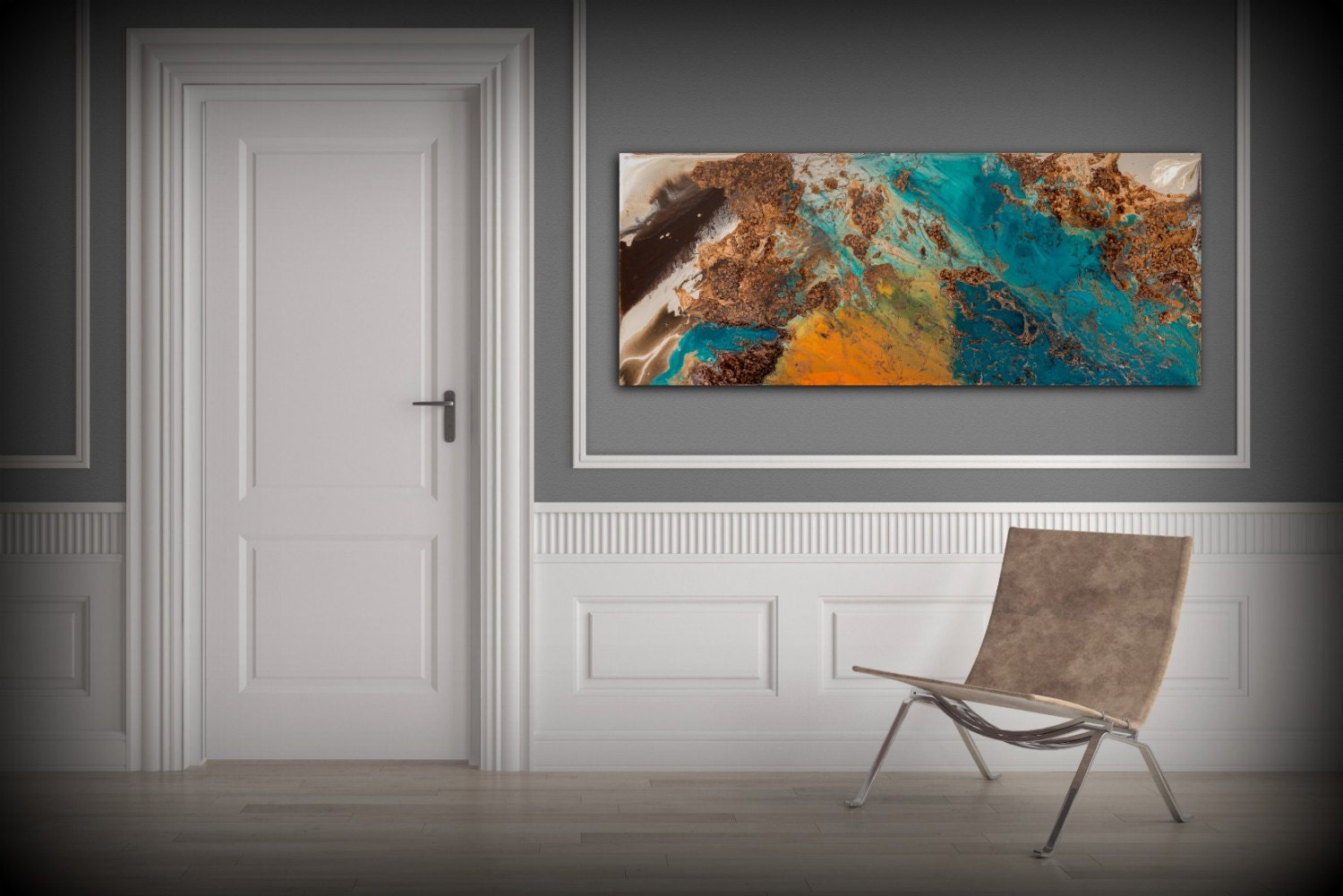 Sale blue and copper art wall art prints fine art prints for Art print for sale