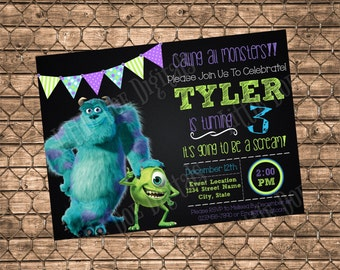 Monsters inc invite Etsy