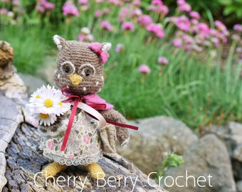 Owl Baby Girl PDF Crochet Pattern