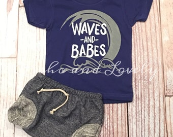 Waves and Babes tee