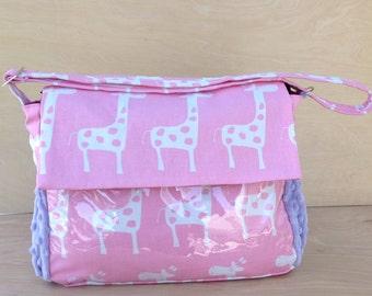 Stroller Bag- Pink Giraffes