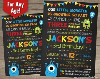 Little Monster Invitations, Monster Birthday, Little Monster First Birthday Invitation, Monster Bash, Printable Monster Party Invitations