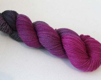 Grapes of Wrath, Hand dyed BFL Sock 4-ply, 75/25 sw BFL/nylon