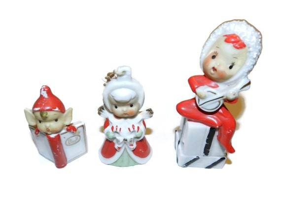 porcelain christmas elf dolls