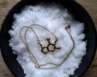 molecule necklace *chocolate*