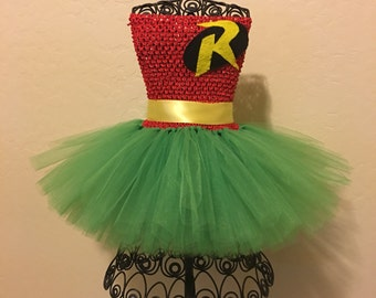 Custom Robin tutu Robin costume Batman and Robin