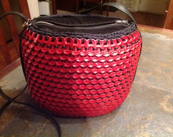 Red Upcycled Can Tab Purse SALE!