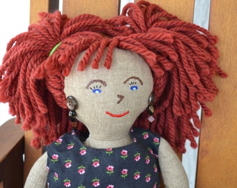 Red Hair Cloth Doll