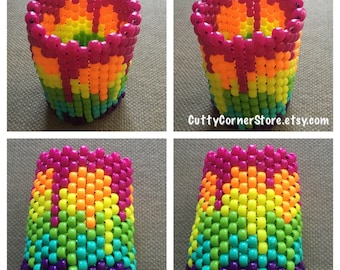 Bleeding Rainbow Kandi Cuff