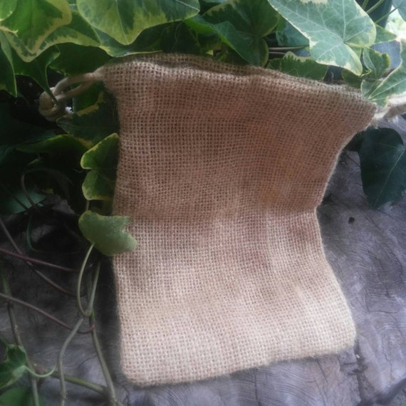 Hessian Bag - Drawstring Bag - Small Drawstring Bag - Tarot Bag - Jute Drawstring Bag