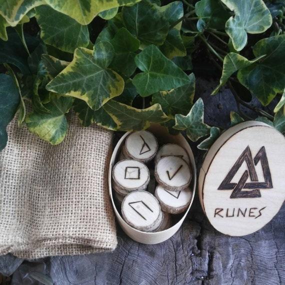 Elder Futhark Runes - Wood Runes - Maple Wood Runes- Rune Set - Viking Runes