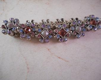 Liz Claiborne Stretch Bracelet with Aurora Borealis Rhinestones