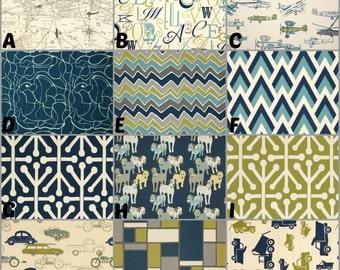Custom Nursery Bedding / Design Your Own / Crib Bumper / Crib Skirt / Crib Sheet / Premier Prints / Felix, Natural