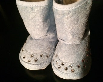 Swarovski Crystal Baby Fur Lined Boots (imitation looking Uggs)