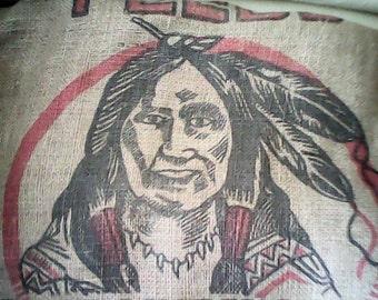 BURLAP FEED BAG Merrimack 1930s Indian Head  Farm