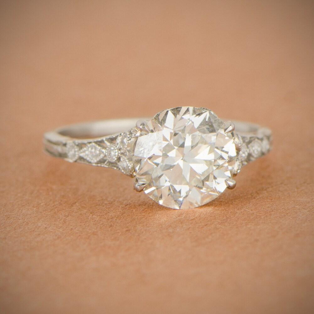 Rare Edwardian Engagement Ring Genuine By Estatediamondjewelry