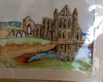 Whitby abbey 26cm x 31cm   Whitby abbey in watercolour
