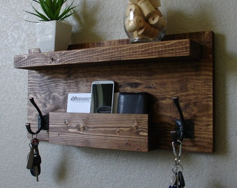 Entryway Coat Rack Organizer w/ Shelf