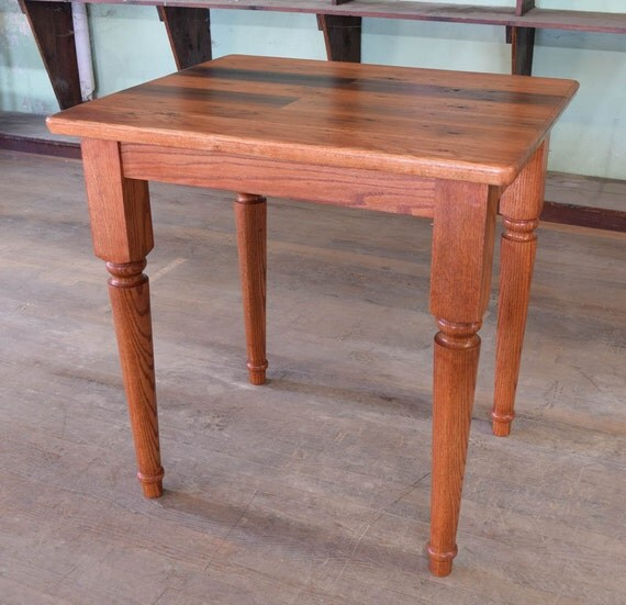 Counter Height Reclaimed Wood Table : Reclaimed Oak - Counter or Dining Height Table - Farmhouse Solid Oak ...