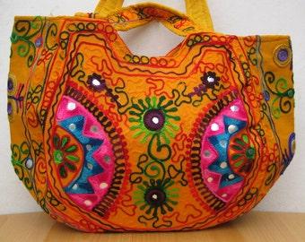 Shopping bag / tote bag/colorful bag / shoulder bag/ embroidered shopping bag /tribal bag/ embroiderd bag/ gift item.