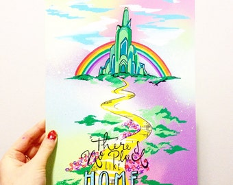 "Wizard of Oz ""there's no place like home"" poster"