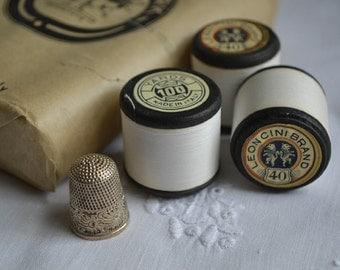 3 spools of vintage Italian sewing thread