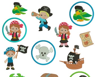 Pirates Tortuga crew for the border 10x10cm