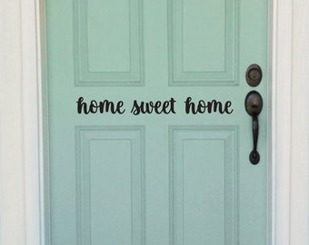 home sweet home door decal