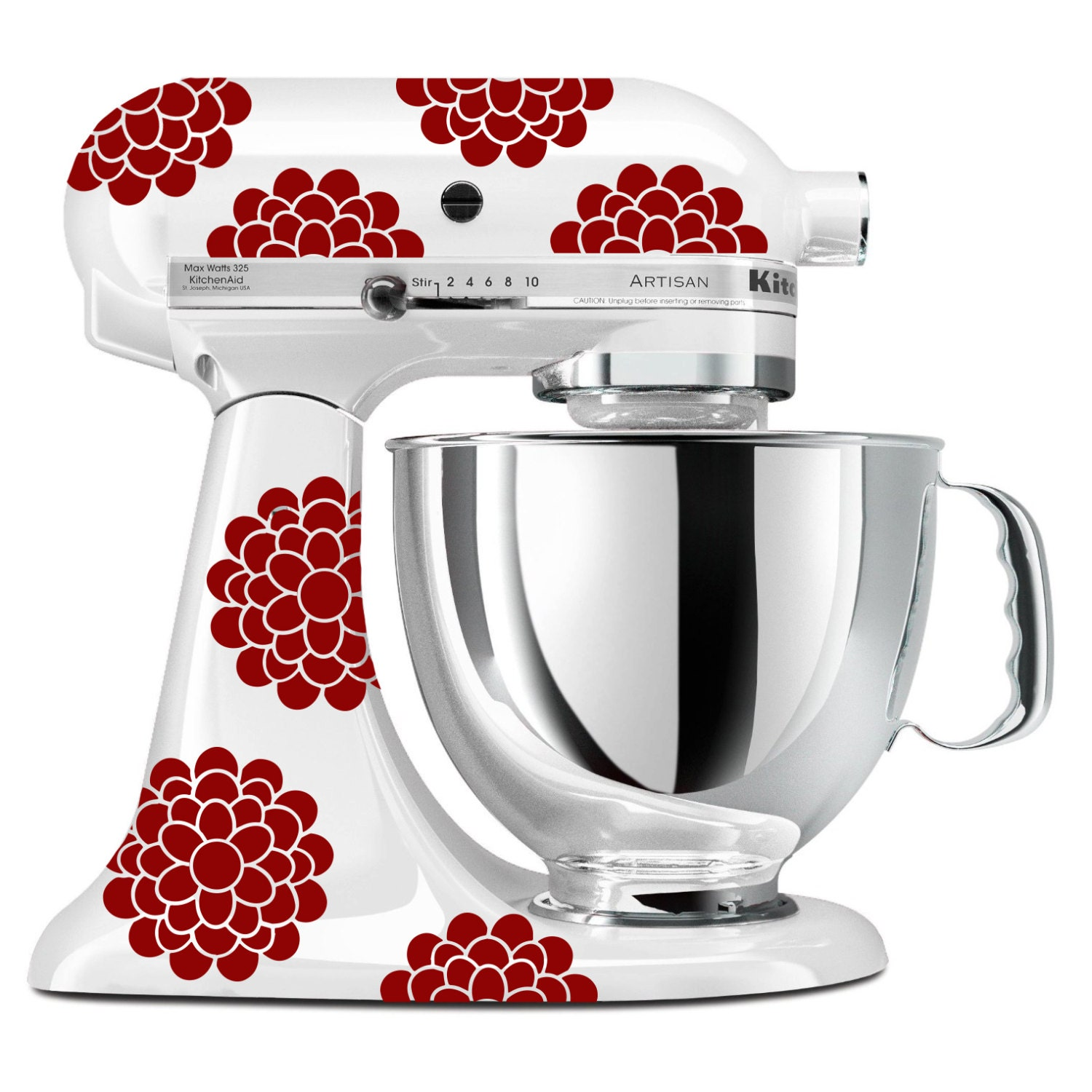 Kitchenaid Stand Up Mixer Flower Decals Any Color Floral