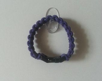 Solomon's Bar Paracord Bracelet - Purple w/Buckle