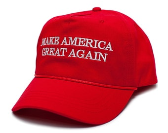 Make America Great Again Red Embroidered Cloth & Braid Baseball Hat Cap Trump 2016