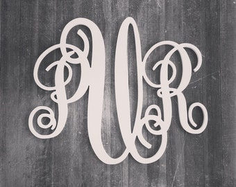 Large Wooden Monogram Wall Letters, Script Monogram, Wooden Wall Monogram, Nursery Decor, Home Decor, Wedding Decor