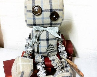 Made to order item~*~ Walter the Raggedy Old Robot Doll Plush